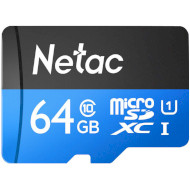 Карта памяти NETAC microSDXC P500 Standard 64GB UHS-I Class 10 (NT02P500STN-064G-S)