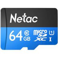 Карта памяти NETAC microSDXC P500 Standard 64GB UHS-I Class 10 + SD-adapter (NT02P500STN-064G-R)