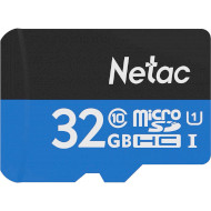 Карта памяти NETAC microSDHC P500 Standard 32GB UHS-I Class 10 (NT02P500STN-032G-S)