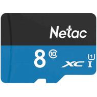 Карта памяти NETAC microSDHC P500 Standard 8GB UHS-I Class 10 (NT02P500STN-008G-S)