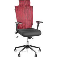 Кресло офисное BARSKY Eco Burgundy/Black (G-2)
