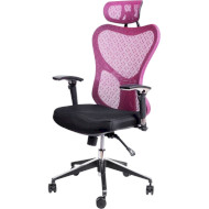 Кресло офисное BARSKY Butterfly Black/Bordo (FLY-02)
