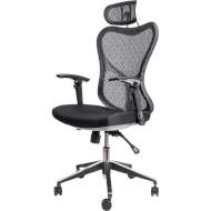 Кресло офисное BARSKY Butterfly White/Black (FLY-03)