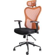 Кресло офисное BARSKY Butterfly Black/Orange (FLY-01)