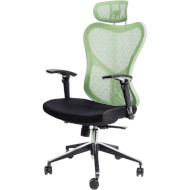 Кресло офисное BARSKY Butterfly White/Green (FLY-04)