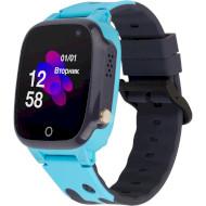 Часы-телефон детские ATRIX iQ2100 IPS Cam Flash Blue (IQ2100 BLUE)