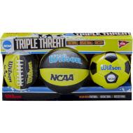 Набор мини-мячей WILSON NCAA Triple Threat Kit SS14 (WTX0754ID)