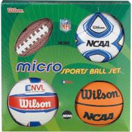 Набор мини-мячей WILSON NCAA Micro Sports Ball Set SS14 (X0544)