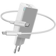 Зарядное устройство BASEUS GaN2 Q.Charger C+C 45W with Mini Cable Type-C toType-C 60W White