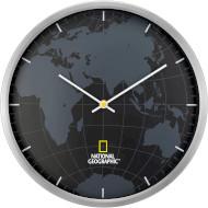 Настенные часы NATIONAL GEOGRAPHIC World Map Aluminium (923429)