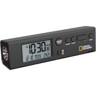 Годинник настільний NATIONAL GEOGRAPHIC Thermometer Flashlight Black