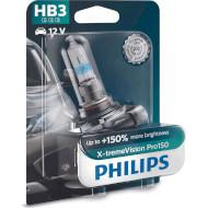 Лампа галогенная PHILIPS X-tremeVision Pro150 HB3 1шт (9005XVPB1)