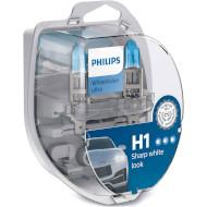 Лампа галогенная PHILIPS WhiteVision Ultra H1 2шт (12258WVUSM)