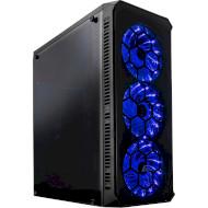 Корпус FRIME Fusion Blue LED (FUSION-U3-315BLF-WP)