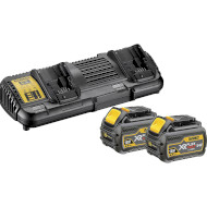 Комплект 2 аккумулятора с з/у DEWALT DCB132T2 18/54V 6.0Ah