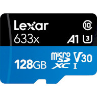 Карта памяти LEXAR microSDXC High Performance 633x 128GB UHS-I U3 V30 A1 Class 10 + SD-adapter (LSDMI128BB633A)