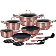 Набор посуды BERLINGER HAUS L-Rose Edition 15пр (BH-6045)
