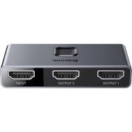 HDMI сплиттер 1→2 BASEUS Matrix HDMI Splitter Space Gray (CAHUB-BC0G)