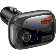FM-трансмиттер BASEUS T-typed Wireless MP3 Charger Black (CCTM-B01)