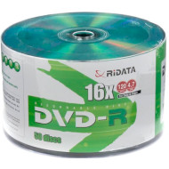 DVD+R RIDATA Green Top 4.7GB 16x 50pcs/wrap (907WEDRRDA002)