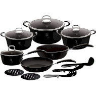 Набор посуды BERLINGER HAUS Black Professional Line 15пр (BH-6129)