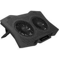 Подставка для ноутбука OMEGA Laptop Cooling Pad 2 fans (OMNCP2FB)
