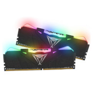 Модуль памяти PATRIOT Viper RGB Black DDR4 3200MHz 32GB Kit 2x16GB (PVR432G320C6K)