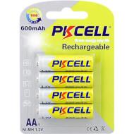 Аккумулятор PKCELL Rechargeable AA 600mAh 4шт/уп (6942449545558)