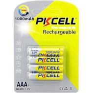 Аккумулятор PKCELL Rechargeable AAA 1000mAh 4шт/уп (6942449545480)