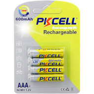 Аккумулятор PKCELL Rechargeable AAA 600mAh 4шт/уп (6942449545367)