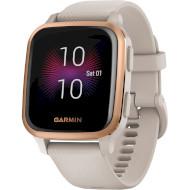 Смарт-часы GARMIN Venu Sq Music Rose Gold Aluminium Bezel with Light Sand Case and Silicone Band (010-02426-11)