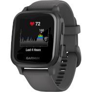 Смарт-часы GARMIN Venu Sq Slate Aluminium Bezel with Shadow Gray Case and Silicone Band (010-02427-10)