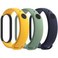 Набір ремінців XIAOMI для Xiaomi Mi Smart Band 5 Blue/Yellow/Green