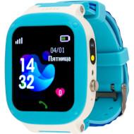 Часы-телефон детские AMIGO GO004 Splashproof Camera + LED Blue (GO004 SPLASHPROOF CAMERA+LED BLUE)