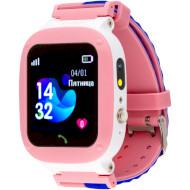 Годинник-телефон дитячий AMIGO GO004 Splashproof Camera + LED Pink