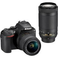 Фотоаппарат NIKON D5600 Kit Nikkor AF-P DX 18-55mm f/3.5-5.6G VR + AF-P 70-300mm VR (VBA500K004)