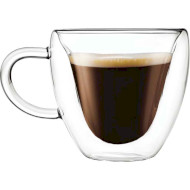 Набір чашок CON BRIO Double Glass 80мл 2шт (CB-8908-2)
