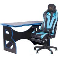 Комплект геймерской мебели BARSKY HomeWork Game Blue/Black (HG-04/BG-01)