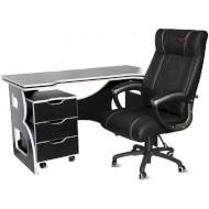 Комплект геймерской мебели BARSKY HomeWork Game Black/White (HG-06/BD-01/CUP-06)