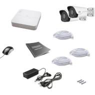 Комплект видеонаблюдения UNIVIEW NVR301-04LB-P4 + IPC2122LR3-PF40M-D 2 шт.