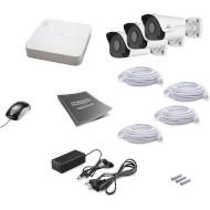 Комплект видеонаблюдения UNIVIEW NVR301-04LB-P4 + IPC2122LR3-PF40M-D 3 шт.