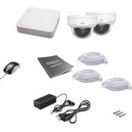 Комплект видеонаблюдения UNIVIEW NVR301-04LB-P4 + IPC322LR3-VSPF28-D 2 шт.