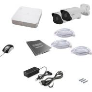 Комплект видеонаблюдения UNIVIEW NVR301-04L-P4 + IPC2124LR3-PF40M-D 2 шт.