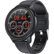 Смарт-часы LEMFO F81 Leather Black