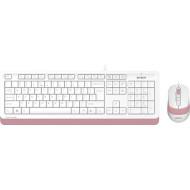 Комплект клавиатура + мышь A4TECH Fstyler F1010 Pink