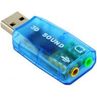 Внешняя звуковая карта DYNAMODE USB-SOUNDCARD2.0 Blue