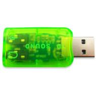 Внешняя звуковая карта DYNAMODE USB-SOUNDCARD2.0 Green