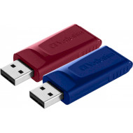 Набор из 2-х флэшек VERBATIM Store 'n' Go Slider 32GB (49327)
