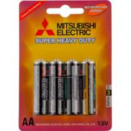 Батарейка MITSUBISHI ELECTRIC Super Heavy Duty AA 4шт/уп (R6PU/4BP)