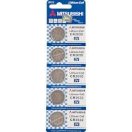 Батарейка MITSUBISHI ELECTRIC Lithium Cell CR2032 5шт/уп (CR2032-5B)